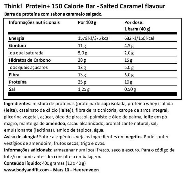Think! Proteína + Nutritional Information 1