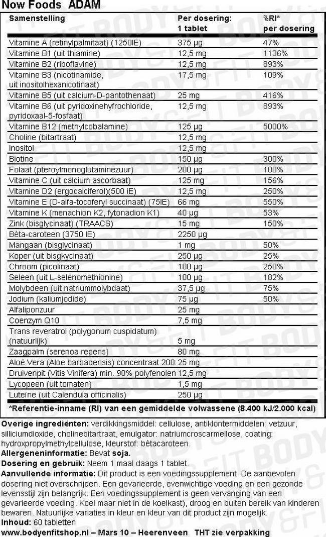 ADAM Nutritional Information 1