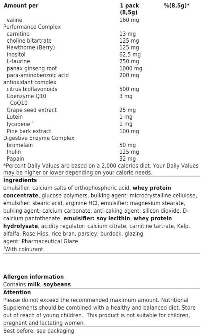 Animal Pak Nutritional Information 6