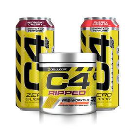 C4 Ripped Pre Workout + 2x BOISSON GAZEUSE C4 ORIGINAL CARBONATED