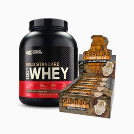 Gold Standard Whey (2.27kg) + Carb Killa Bars (box)