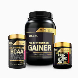 Bundle Gold Standard Gainer BCAA Pre-Workout