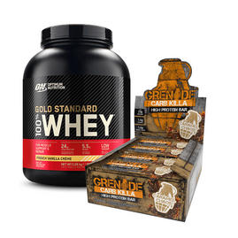 Zestaw Gold Standard Whey 2.27kg & Carb Killa Bars