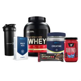 근력 운동을 위한 묶음 상품 - 골드 스탠다드 100% 웨이 단백질