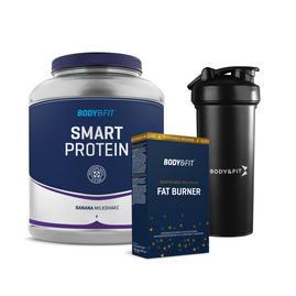 Smart Protein 2kg + Sustained Release Fat Burner + Shaker