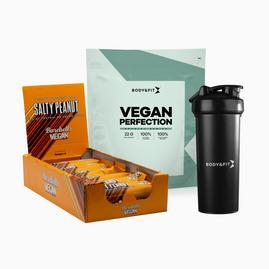 НАБОР Vegan Perfection 2.26kg + Vegan Barebells Protein Bars + Shaker
