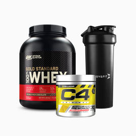 Zestaw Gold Standard Whey 2.27kg + C4 Original (30 Porcji) + Shaker