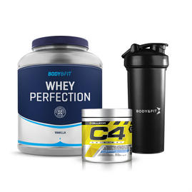 Whey Perfection 2.27kg + C4 Original (30 servings) + Shaker