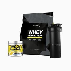 Whey Perfection 2.27kg + C4 Original (30 servings) + Shaker