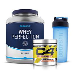 Zestaw Whey Perfection 2.27kg + C4 Ripped (30 Porcji) + Shaker