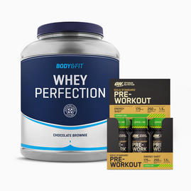 Whey Perfection 2.3kg & ON Pre-workout shots