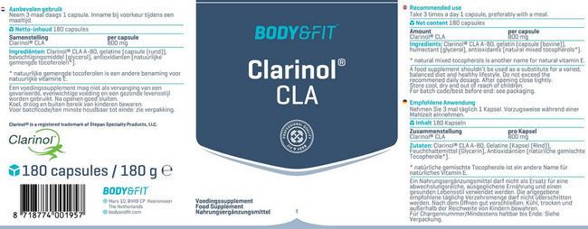 Clarinol® CLA Nutritional Information 1