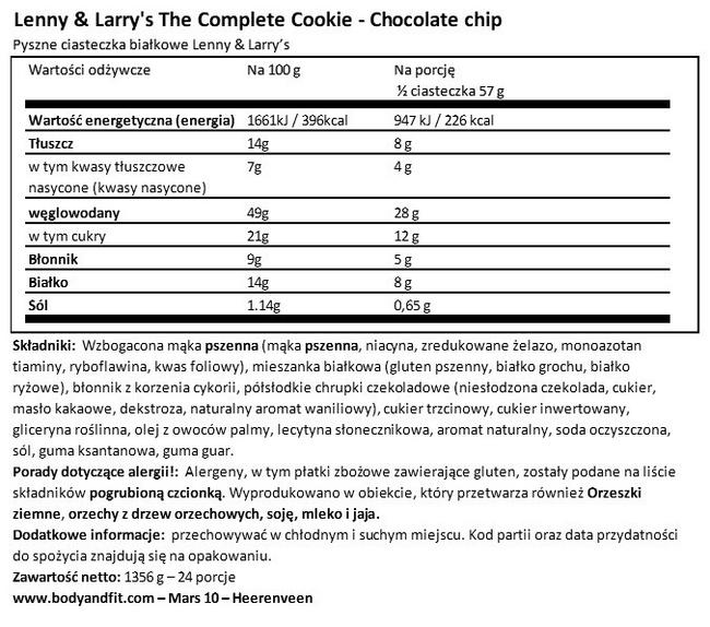 The Complete Cookie Nutritional Information 1