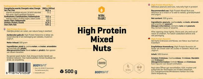 High Protein Nussmix Nutritional Information 1