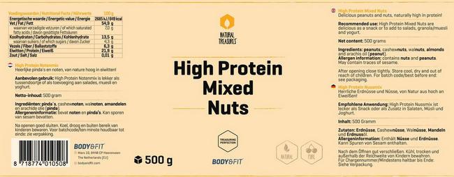 Mélange de noix High Protein Nutritional Information 1