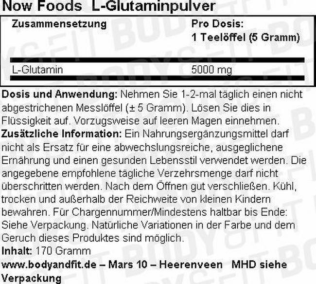 L-Glutaminpulver Nutritional Information 1