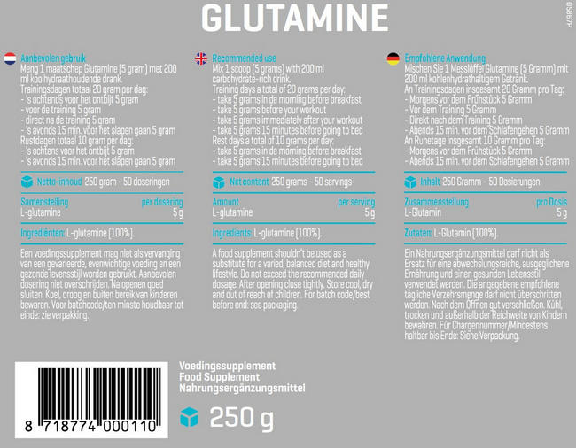 L-Glutamin Nutritional Information 1