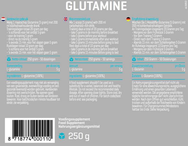 L-glutamine Nutritional Information 1