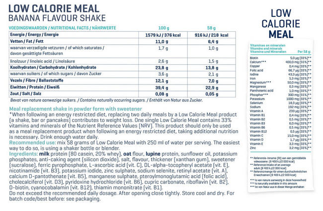 Low Calorie Meal Nutritional Information 3