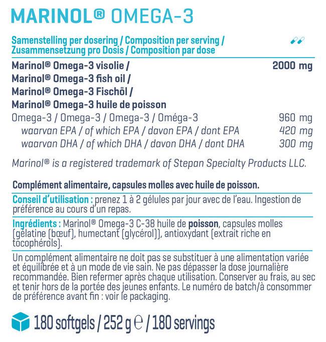 Marinol® Omega 3 Nutritional Information 1