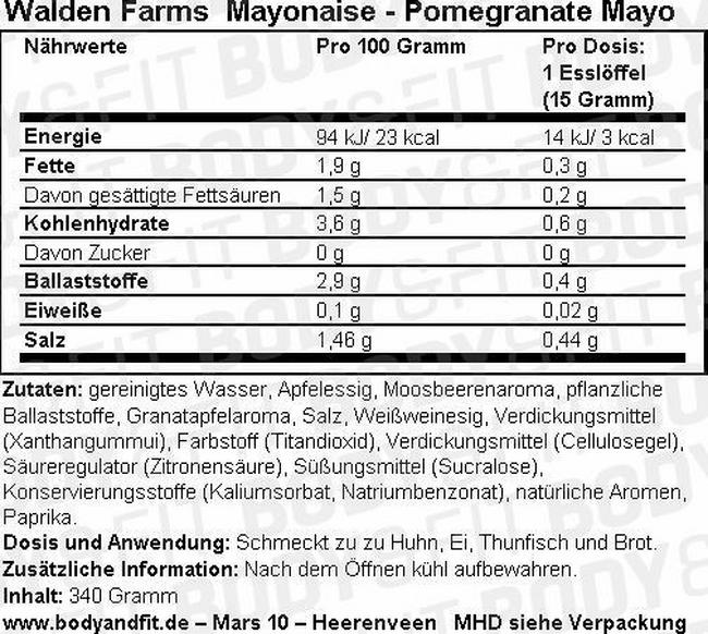 Mayonnaise Nutritional Information 4
