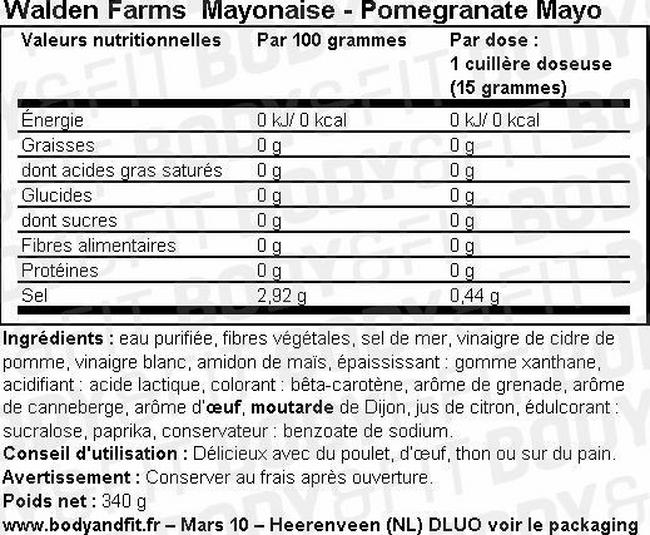 Mayonnaise Nutritional Information 1