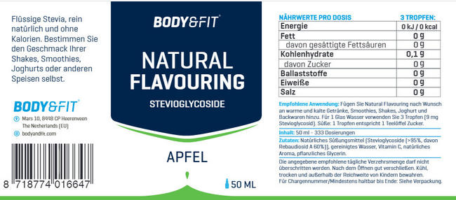 Natural Flavouring Nutritional Information 1