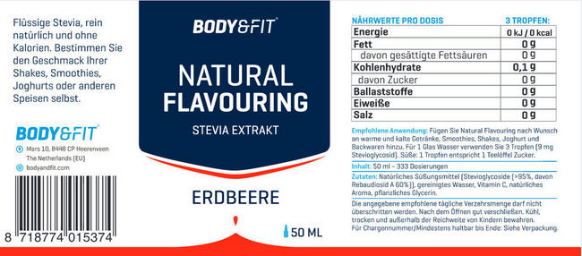 Natural Flavouring Nutritional Information 2