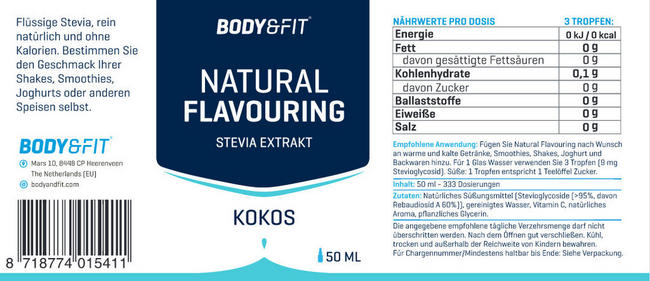 Natural Flavouring Nutritional Information 3