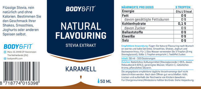 Natural Flavouring Nutritional Information 4