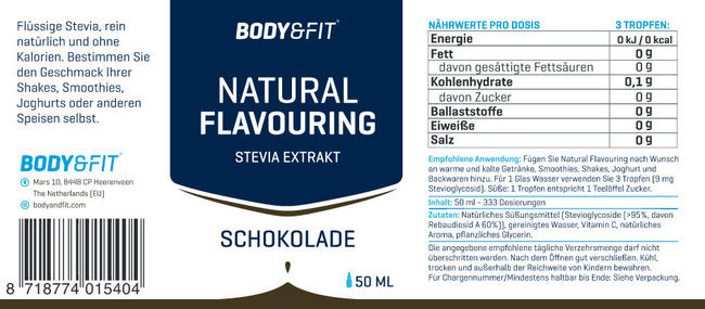 Natural Flavouring Nutritional Information 5