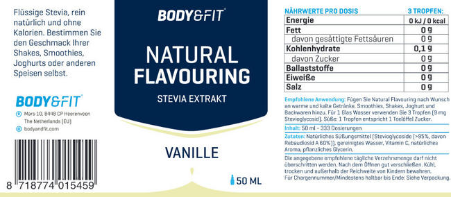 Natural Flavouring Nutritional Information 6