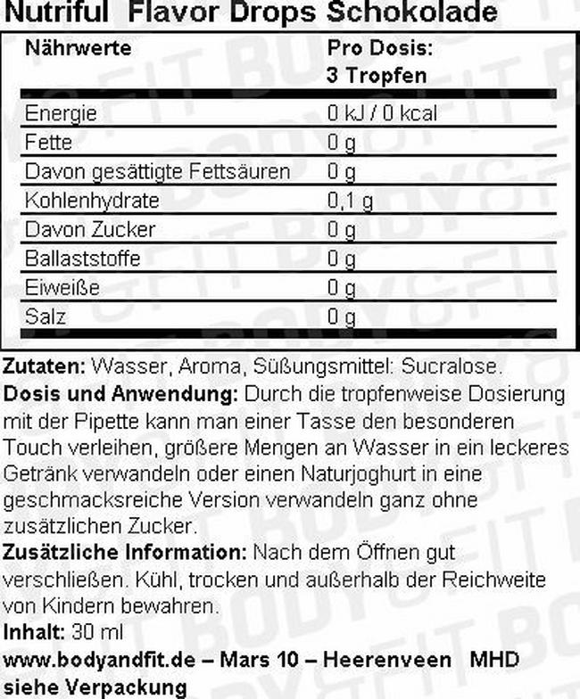 Nutriful Flavour Drops Nutritional Information 3