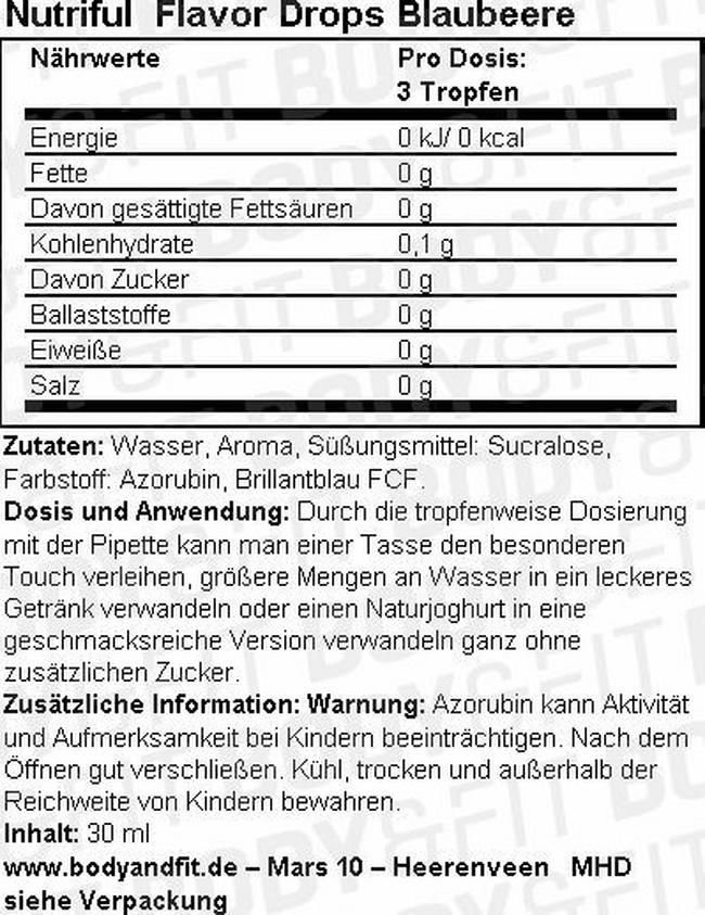 Nutriful Flavour Drops Nutritional Information 4