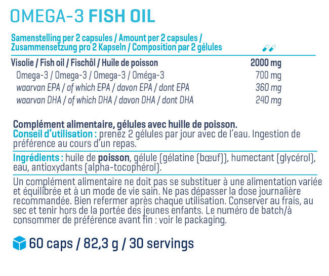 High Quality Omega 3 Nutritional Information 1