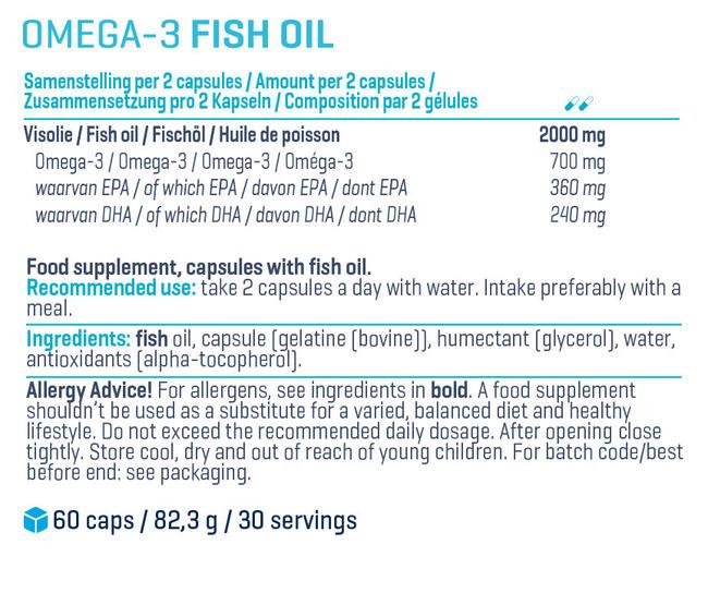 ハイクオリティー オメガ3 Nutritional Information 1