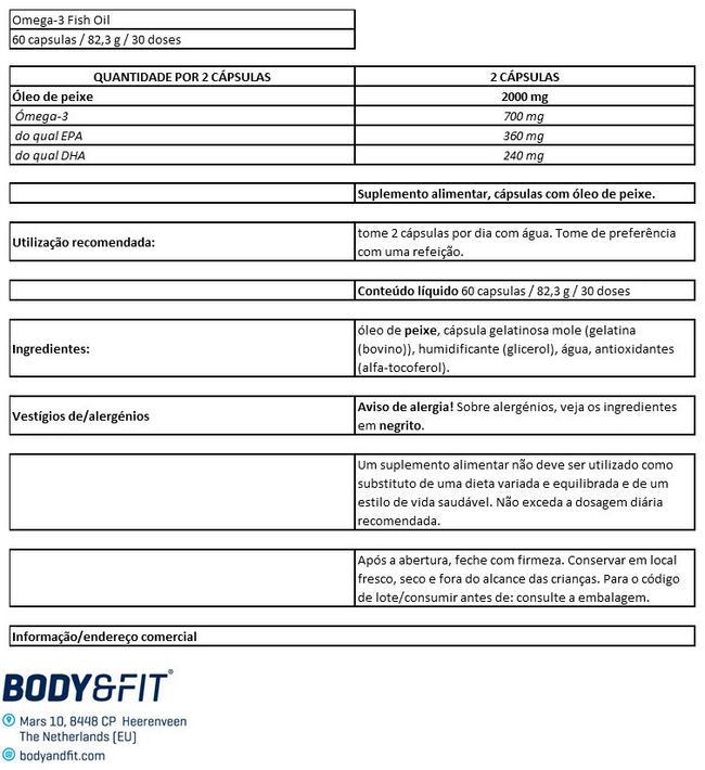 Ómega 3 de alta qualidade Nutritional Information 1