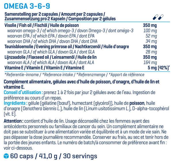 Oméga 3-6-9 Nutritional Information 1