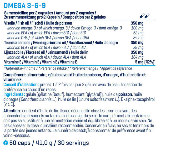Oméga 3-6-9 Nutritional Information 1