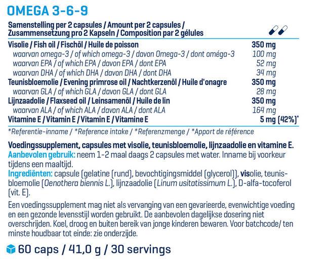 Omega 3-6-9 Nutritional Information 1