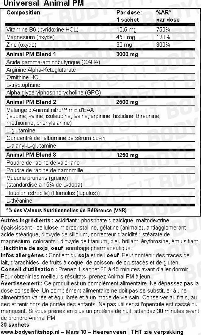 Animal PM Nutritional Information 1