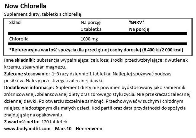 Chlorella Nutritional Information 1