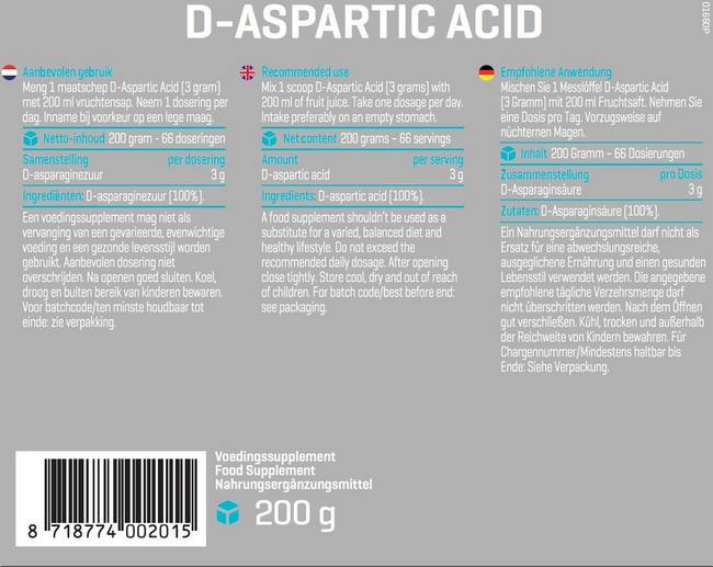 D-Aspartic Acid Nutritional Information 1