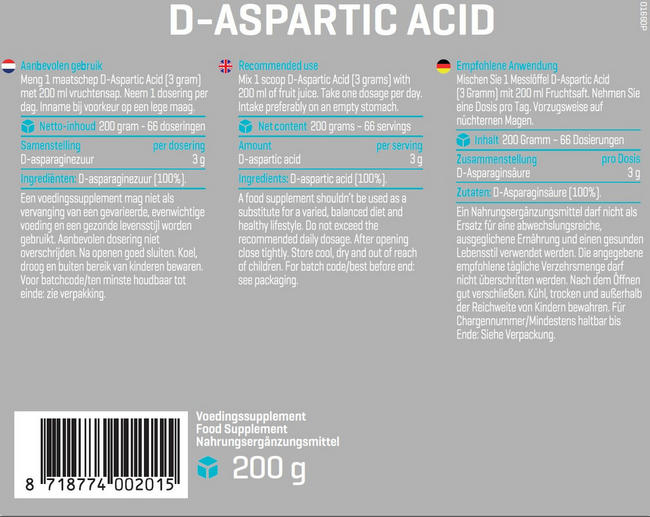 D-Aspartic Acid Nutritional Information 1