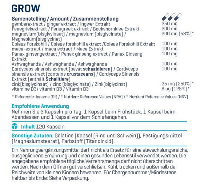 Grow! Nutritional Information 2
