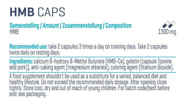 HMBピュア Nutritional Information 1