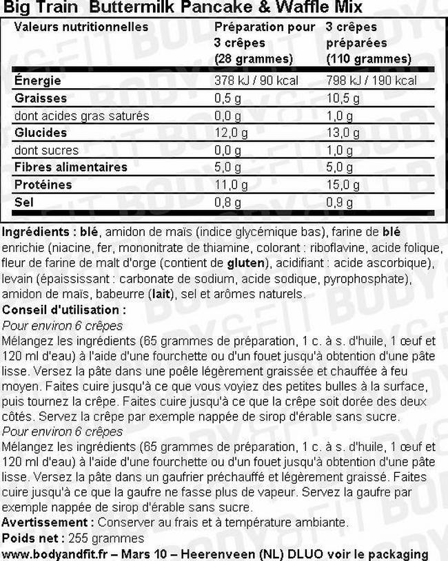 Low Carb Pancake & Waffle mix Nutritional Information 1