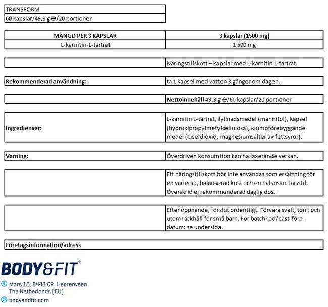 OMVANDLA Nutritional Information 1