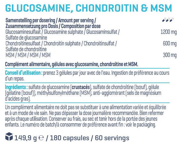 Glucosamine, Chondroitine & MSM Nutritional Information 1