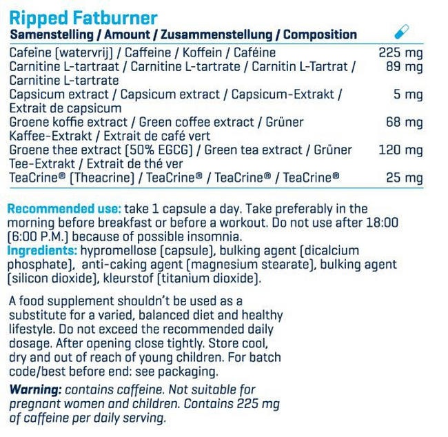 Ripped! Nutritional Information 4